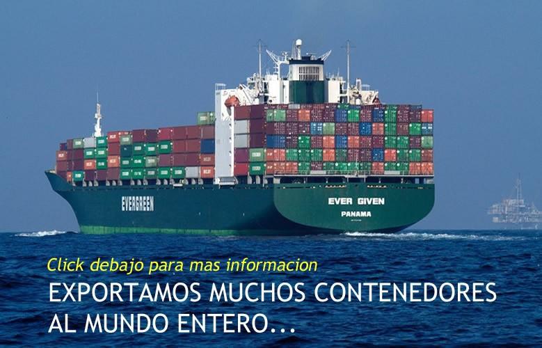 Exportacion de contenedores de ropa al mundo entero